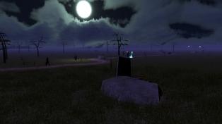 Reddansyr Road by moonlight