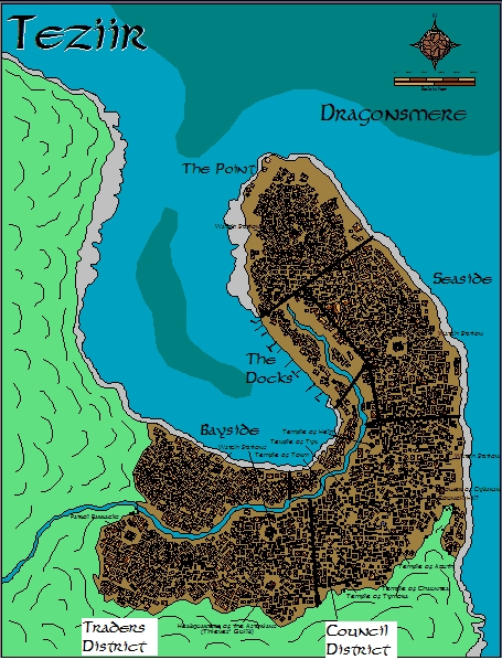 City of Teziir - District Map